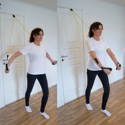 Träna bröstmuskler med styrkeband