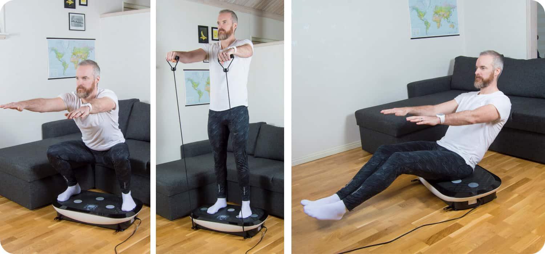 Vibrationsplatta för vibrationsträning