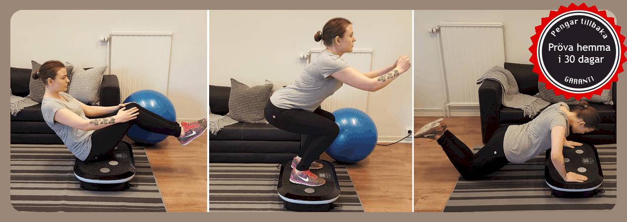 Vibrationsträning på Fitnessplate